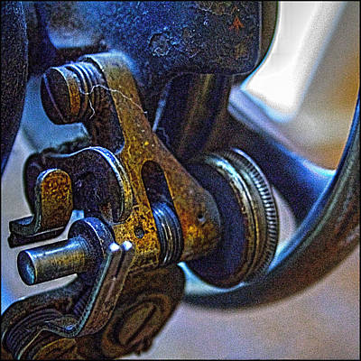 Photograph - Antique Singer Sewing Machine Detail by Roger Passman