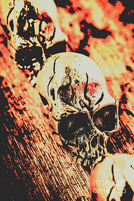 Goth Photograph - Antique Skull Scene by Jorgo Photography - Wall Art Gallery