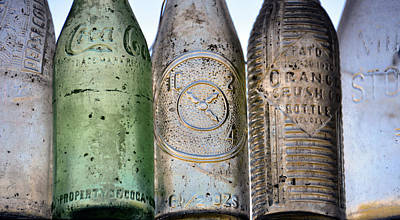Photograph - Antique Soda Bottles by David Lee Thompson