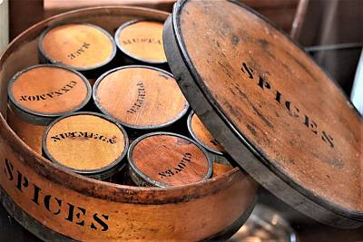 Photograph - Antique Spice Box by Kim Bemis