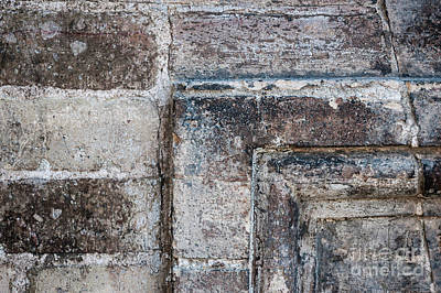 Photograph - Antique Stone Wall Detail by Elena Elisseeva
