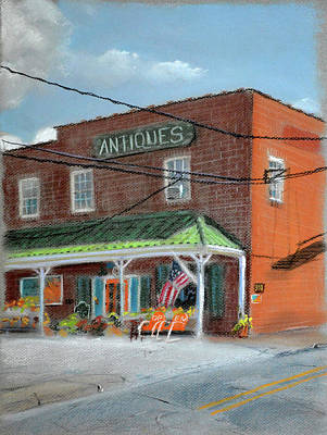 Woods Painting - Antique Store by Christopher Reid