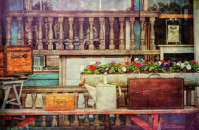 Photograph - Antique Store Porch Colonial Beach  by Glenn Gemmell