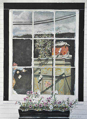 Painting - Antique Store Window by Jean Sumption
