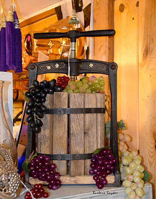 Winery Painting - Antique Store Wine Press by Barbara Snyder