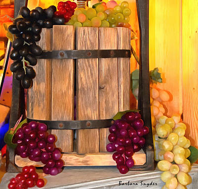 Winery Painting - Antique Store Wine Press Small by Barbara Snyder