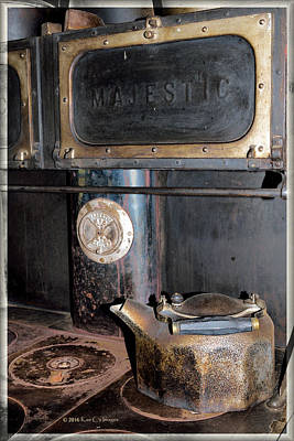 Antique Stove And Kettle Art Print