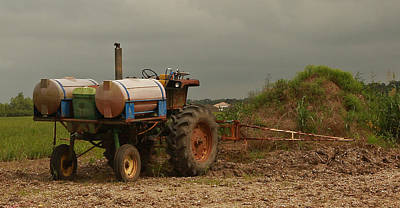 Photograph - Antique Sugarcane Tractor by Ronald Olivier