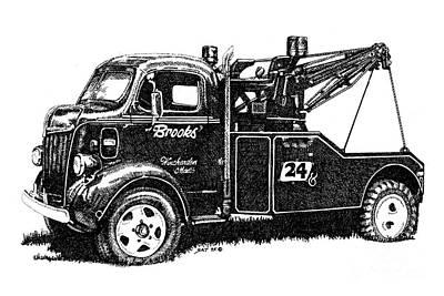 Antique Tow Truck Art Print