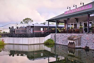 Photograph - Antique Train At The Salted Rim Restaurant by Kim Bemis
