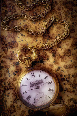 Antique Train Pocket Watch Art Print