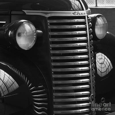 Photograph - Antique Truck Black And White by Wilma  Birdwell