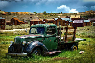 Photograph - Antique Truck In Bodie Ghost Town by Mountain Dreams