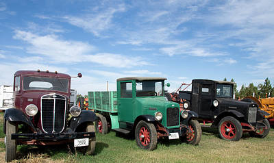 Photograph - Antique Trucks Montana by Carol Highsmith