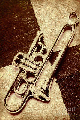 Brass Wall Art - Photograph - Antique Trumpet Club by Jorgo Photography - Wall Art Gallery