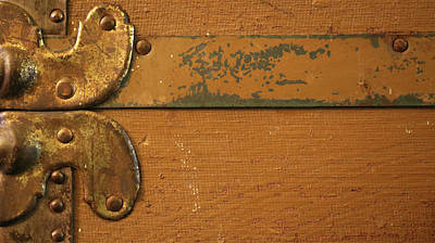 Photograph - Antique Trunk Detail 52 by Mary Bedy