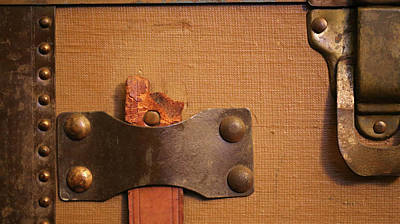 Photograph - Antique Trunk Details 60 by Mary Bedy