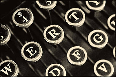 Photograph - Antique Typewriter Keys Detail by Roger Passman