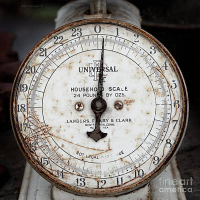 Photograph - Antique Universal Household Scale by John Stephens