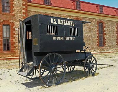Antique U.s Marshalls Wagon Art Print