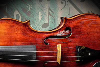 Photograph -  Antique Violin 1732.24 by M K Miller