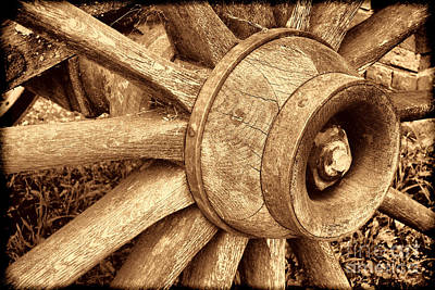 Photograph - Antique Wagon Wheel by American West Legend By Olivier Le Queinec