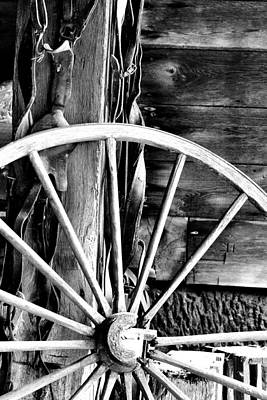 Photograph - Antique Wagon Wheel by Michelle Joseph-Long