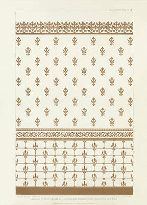 Painting - Antique Wall Decoration Pattern by Audsley
