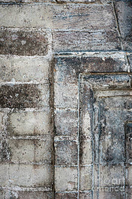 Relief Photograph - Antique Wall Detail by Elena Elisseeva