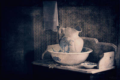 Photograph - Antique Wash Basin And Pitcher  by Maria Angelica Maira