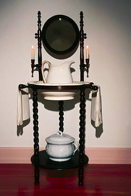 Antique Wash Stand Print by Sally Weigand