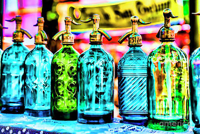 Photograph - Antique Water Bottles by Rick Bragan