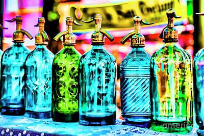 Reptiles - Antique Water Bottles by Rick Bragan
