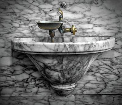 Photograph - Antique Water Fountain by Dave Mills
