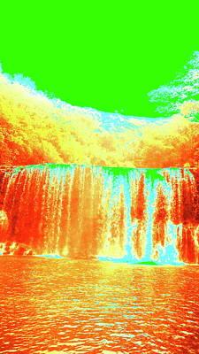 Digital Art - Antique Waterfall by Erika Swartzkopf