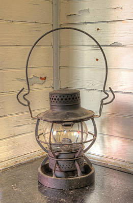 Photograph - Antique Weighted Kerosene Lantern by Gary Slawsky