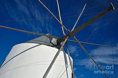 Mediterranean Photograph - Antique Windmill Detail by Angelo DeVal