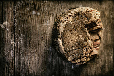 Photograph - Antique Wine Barrel Cork by Tom Mc Nemar