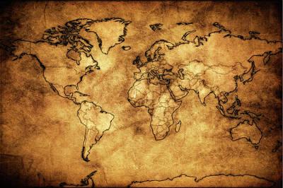 Photograph - Antique World Map by Athena Mckinzie