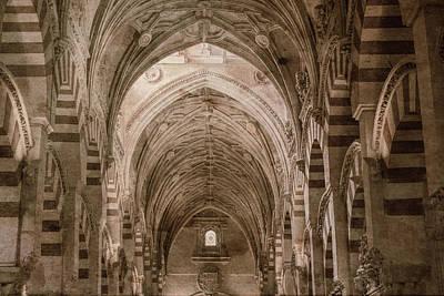 Mezquita Photograph - Antiqued Mosque, Cordoba, Spain. by Brenda Tharp
