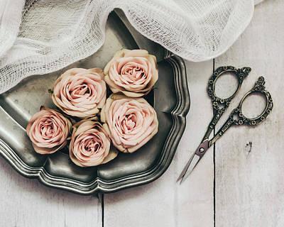 Photograph - Antiqued Roses by Kim Hojnacki