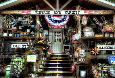 Antiques And Collectibles Art Print by Michael Eingle