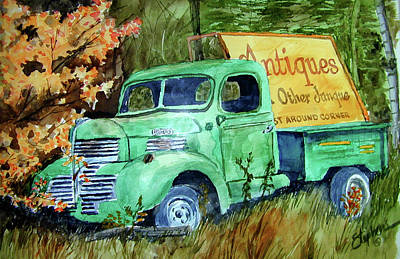 Antiques And Other Junque Art Print by Ron Stephens