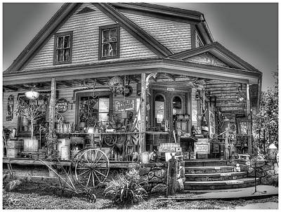 Photograph - Antiques And Whimsy Monochrome by Wayne King