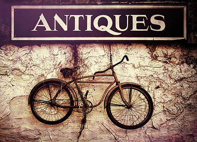 Art Print featuring the photograph Antiques Old Bike by Bob Orsillo