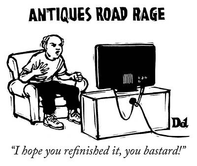 Drawing - Antiques Road Rage by Drew Dernavich