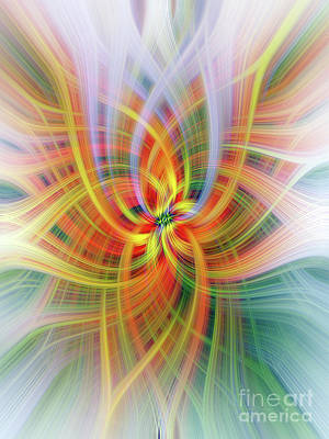 Digital Art - Antirrinhum Twirl by Elaine Teague