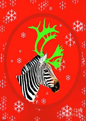 Photograph - Antlered Zebra by Lizi Beard-Ward