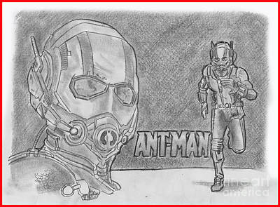 Drawing - Antman by Chris DelVecchio