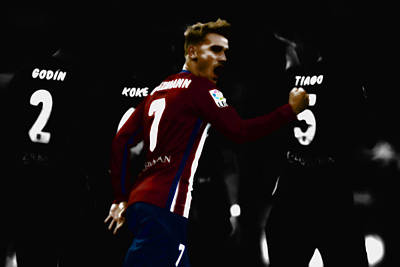 Cristiano Ronaldo Mixed Media - Antoine Griezmann by Brian Reaves